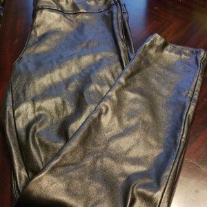 Gap faux leather pants